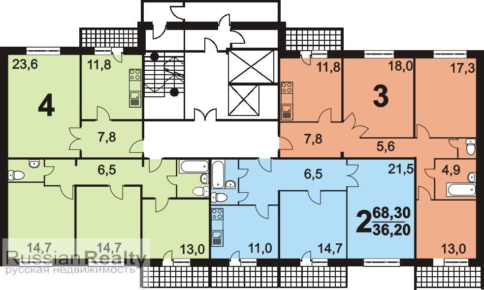 Дома серии в-2000 и планировка квартир с размерами.